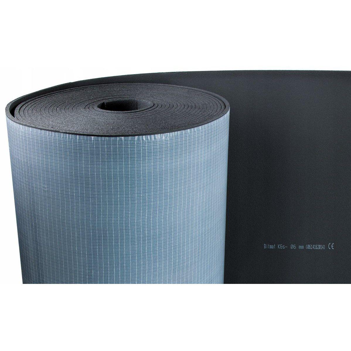 Butylová rohož 10ks 1,8mm 75x50cm + zvukotesná pena 6mm 350x100cm K6s + valec karus